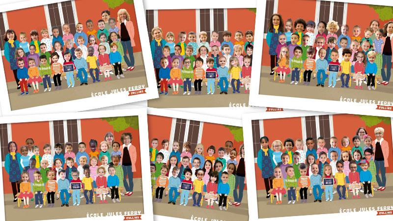 Photo[montage] de classe de maternelle